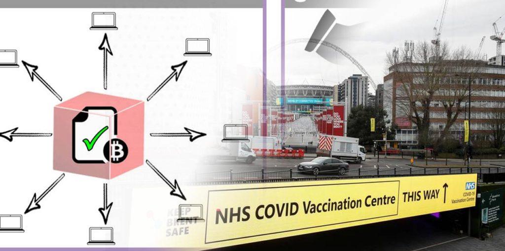 blockkedjan, sjukhus och covid-19 vaccin
