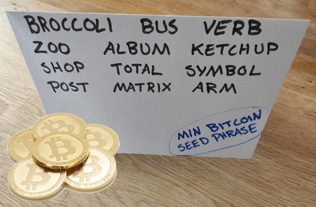 Bitcoin seed phrase